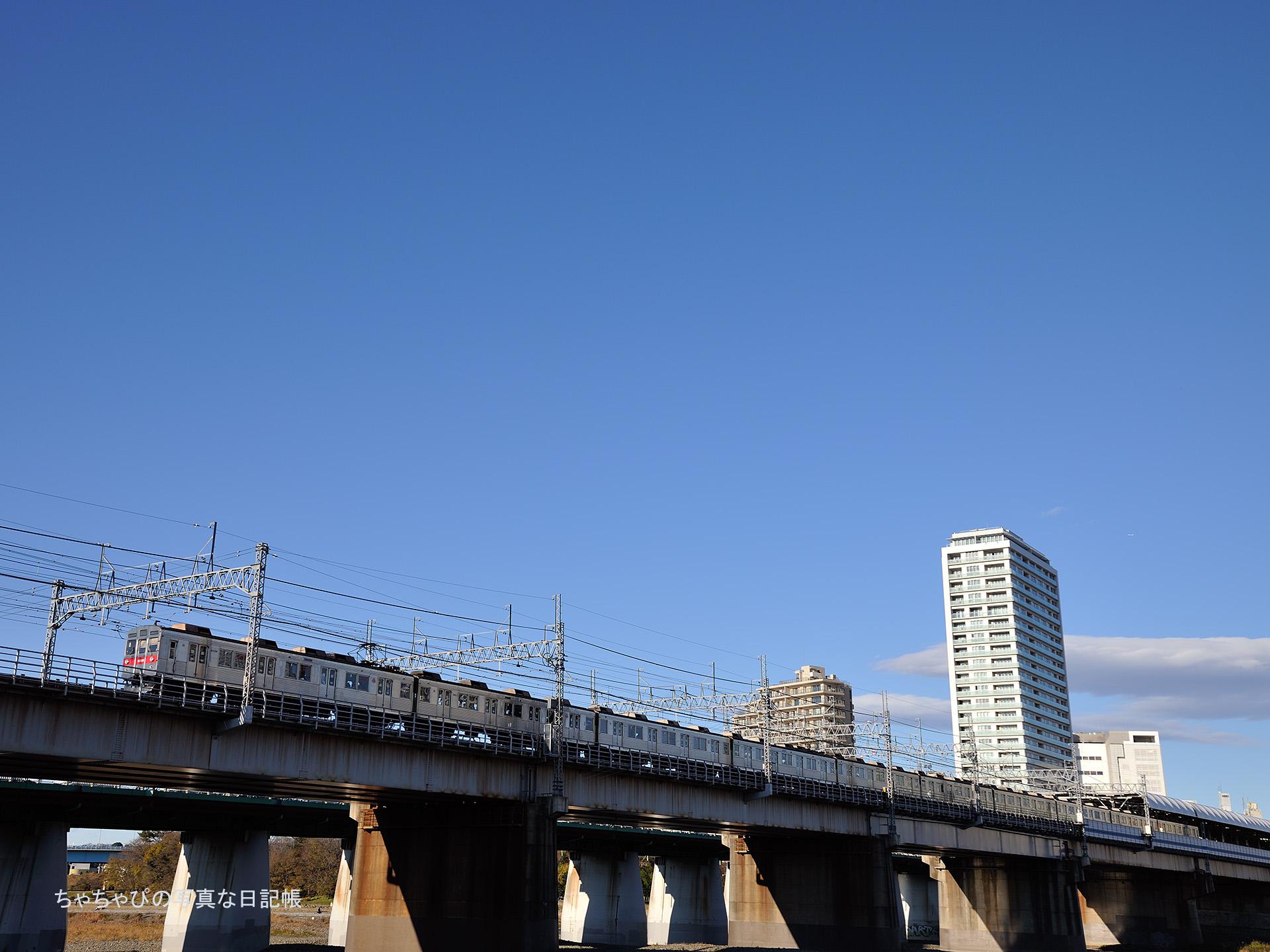 東急田園都市線 二子玉川駅~二子新地駅 8500系 -04ゥ 8628F-