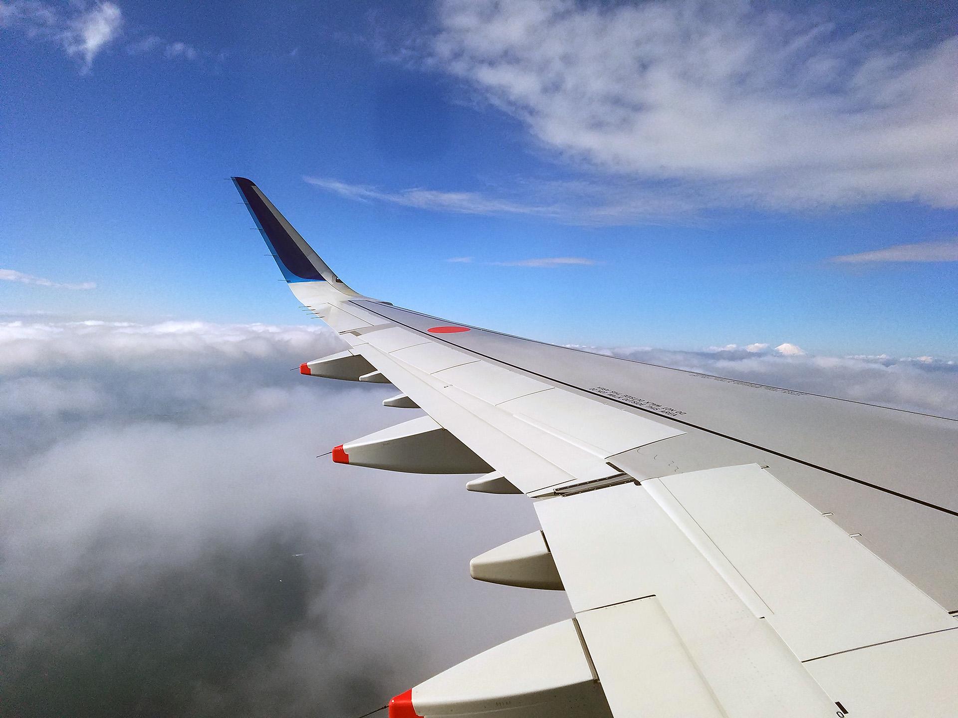 ANA674便からの富士山!!