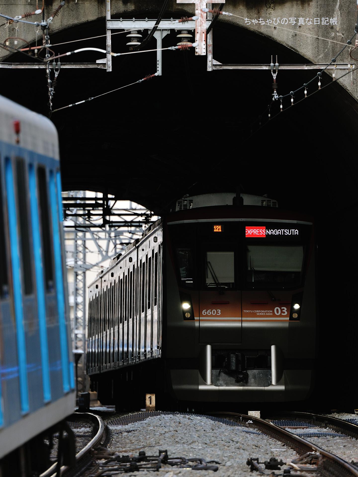 東急田園都市線 梶が谷駅 6000系 -121ゥ 6103F-