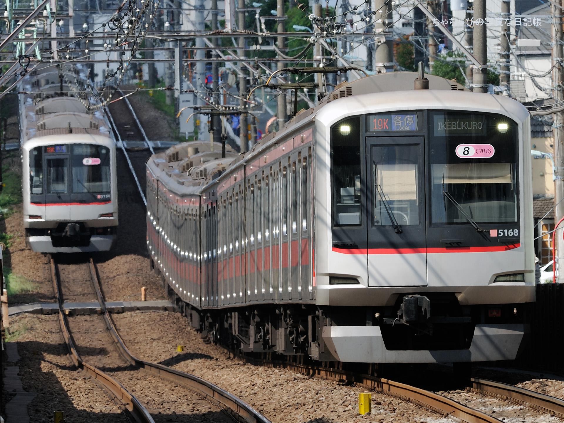 東急東横線 都立大学駅 5050系 -19ゥ 5168F-