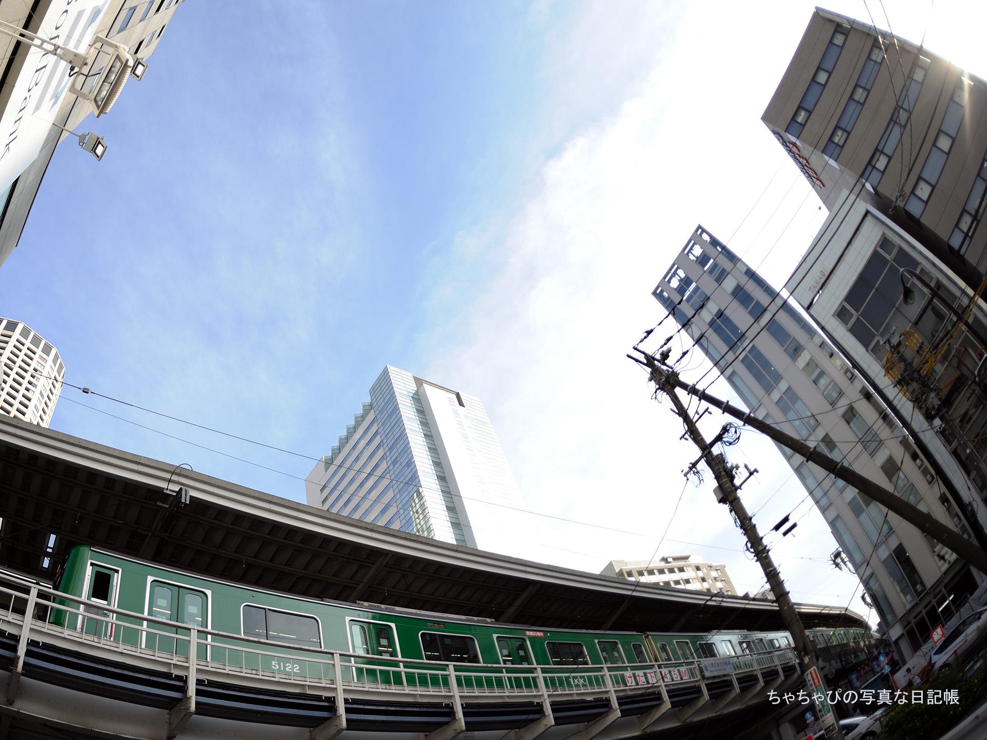 東急東横線 中目黒駅 5050系 青ガエルラッピング -08ゥ 5122F-