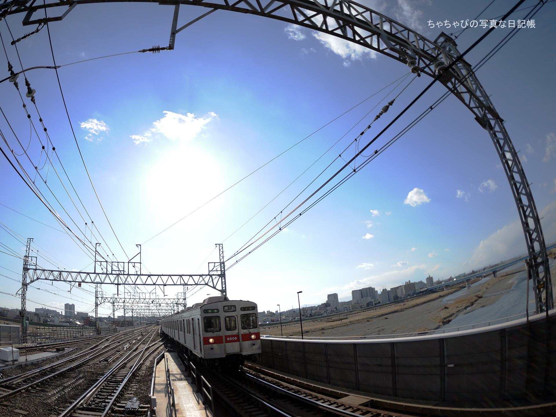 東急田園都市線 二子玉川駅 8500系 -33ゥ 8606F-